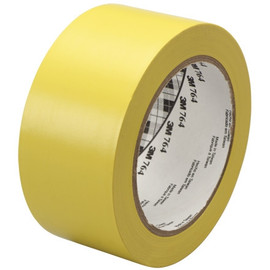 3M General Purpose Vinyl Tape 764 Yellow 2 inch x 36 yard Roll (6 Pack)