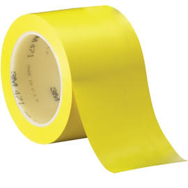 3M Vinyl Tape 471 Yellow 3 inch x 36 yard Roll (12 Roll/Pack)