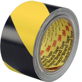 3M Hazard Warning Tape 5702 Yellow/Black 3 inch x 36 yard Roll (12 Roll/Pack)