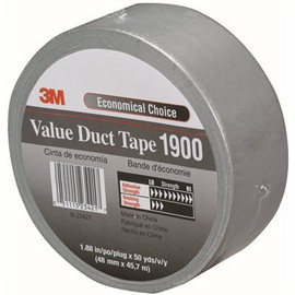Silver 3M 1900 Duct Tape 2 inch x 50 yard Roll (3 Pack)