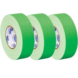 Tape Logic 11 Mil Gaffers Tape Fluorescent Green 2 inch x 60 yard Roll (3 Pack)