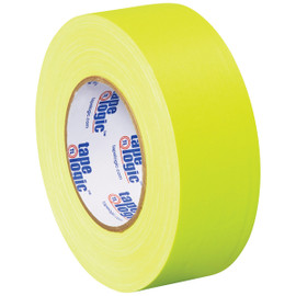 Tape Logic 11 Mil Gaffers Tape Fluorescent Yellow 2 inch x 60 yard Roll (24 Roll/Pack)