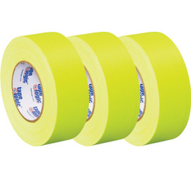 Tape Logic 11 Mil Gaffers Tape Fluorescent Yellow 2 inch x 60 yard Roll (3 Pack)