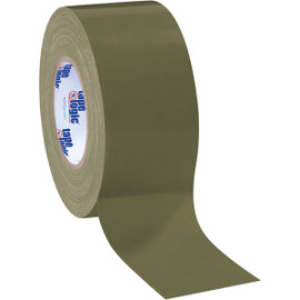 Tape Logic Olive Green Duct Tape 3 inch x 60 yard Roll (3 Pack)