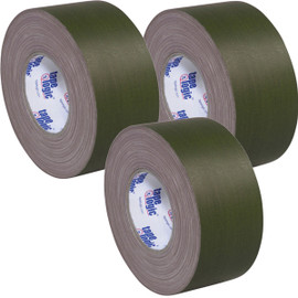 Tape Logic 11 Mil Gaffers Tape Olive Green 3 inch x 60 yard Roll (3 Pack)