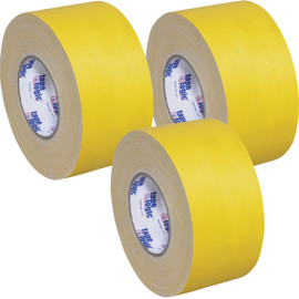 Tape Logic 11 Mil Gaffers Tape Yellow 3 inch x 60 yard Roll (3 Pack)