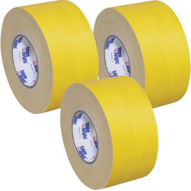 Tape Logic 11 Mil Gaffers Tape Yellow 4 inch x 60 yard Roll (3 Pack)