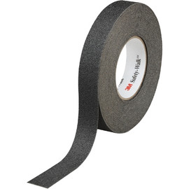 3M Safety-Walk Slip-Resistant General Purpose Tape 610 Black 1 inch x 60 ft Roll (4 Roll/Pack)