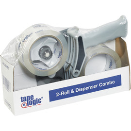 Tape Logic 2 inch x 55 yard Clear 2-Roll Dispenser Combo