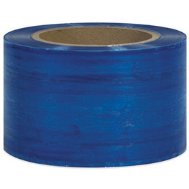 Bundling Stretch Film Blue 3 inch x 80 Gauge x 1000 ft Roll (18 Roll/Pack)