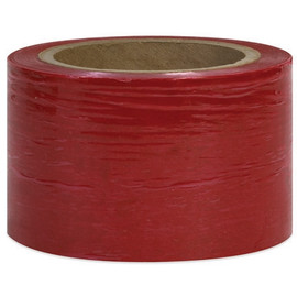 Bundling Stretch Film Red 3 inch x 80 Gauge x 1000 ft Roll (18 Roll/Pack)
