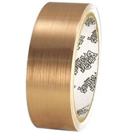 Tape Planet Brushed Gold 1.5 inch x 10 yard Roll Metalized Polyester Tape