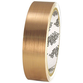 Tape Planet Brushed Gold 1 inch x 10 yard Roll Metalized Polyester Tape
