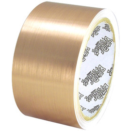 Tape Planet Brushed Gold 2 inch x 10 yard Roll Metalized Polyester Tape