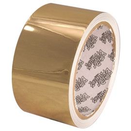 Tape Planet Polished Gold 2 inch x 10 yard Roll Metalized Polyester Tape