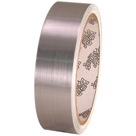 Tape Planet Brushed Chrome 1 inch x 10 yard Roll Metalized Polyester Tape
