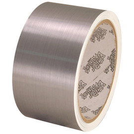 Tape Planet Brushed Chrome 2 inch x 10 yard Roll Metalized Polyester Tape
