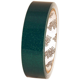 Tape Planet Green 1 inch x 10 yard Roll Metallic Fleck Glitter PVC Tape