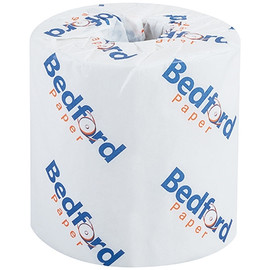 Bedford 1-Ply Toilet Paper 4 inch x 3 3/4 inch Sheet (1000 Sheet/Roll(96 Roll/Pack)