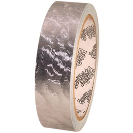 Tape Planet Silver Leaf 1 inch x 10 yard Roll Metalized PVC Tape