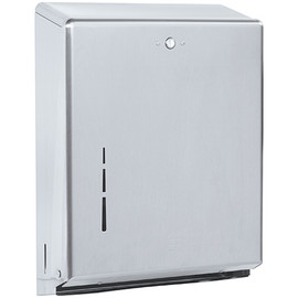 C-Fold/Multi-Fold Hand Towel Dispenser Brushed Steel 11 inch x 15 inch x 4 inch