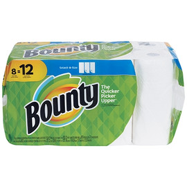 Bounty 2-Ply Paper Towels 11 inch x 6 inch (83 Sheet Roll (8 Per/Pack)