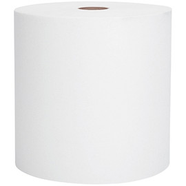 Scott Essential White Hard Wound Roll Towels 8 inch x 800 ft (12 Per/Pack)