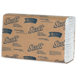 Scott Surpass White C-Fold Towels 10.13 inch x 13.15 inch Sheet (150 Per/Pk(16 Per/Pack)