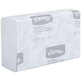 Kleenex White Multi-Fold Towels 9.20 inch x 9.40 inch Sheet (150 Per/Pk(16 Per/Pack)