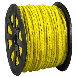 Twisted Polypropylene Rope Yellow 3/8 inch x 600 ft Spool