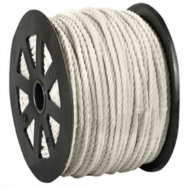 Twisted Polypropylene Rope White 1/4 inch x 600 ft Spool