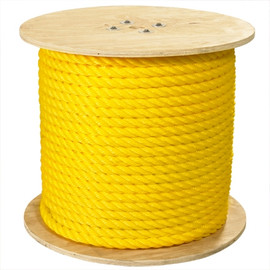 Twisted Polypropylene Rope Yellow 1 inch x 600 ft Spool