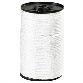 Solid Braided Nylon Rope White 1/4 inch x 500 ft Spool