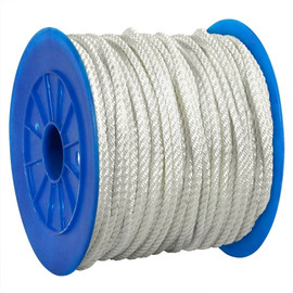 Twisted Nylon Rope White 1/2 inch x 600 ft Spool