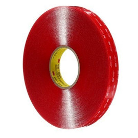 3M 4910 VHB Tape Clear 1/2 inch x 5 yard Roll (40 Mil)
