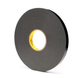 3M 4929 VHB Tape Black 1/2 inch x 5 yard Roll (25 Mil)