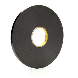 3M 4929 VHB Tape Black 3/4 inch x 5 yard Roll (25 Mil)