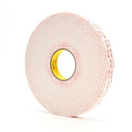 3M 4930 VHB Tape White 1 inch x 5 yard Roll (25 Mil)