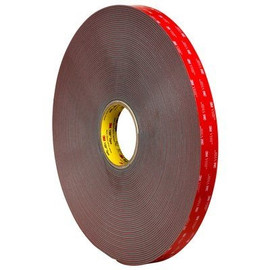 3M 4947F VHB Tape Black 1 inch x 5 yard Roll (45 Mil)