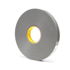 3M 4957F VHB Tape Gray 1 inch x 5 yard Roll (62 Mil)