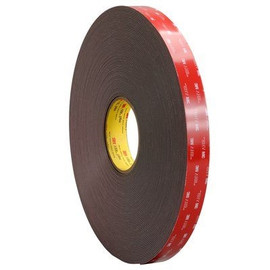 3M 4979F VHB Tape Black 1 inch x 5 yard Roll (62 Mil)