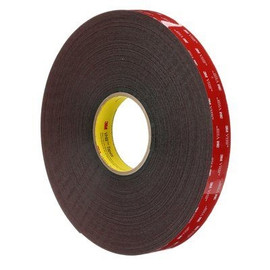 3M 5952 VHB Tape Dark Gray 1 inch x 5 yard Roll (45 Mil)