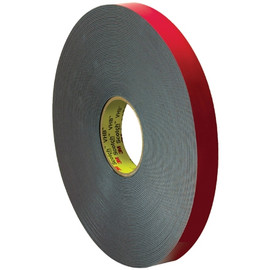 3M 5958FR VHB Tape Black 1 inch x 5 yard Roll (40 Mil)