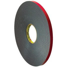 3M 5958FR VHB Tape Black 1/2 inch x 5 yard Roll (40 Mil)
