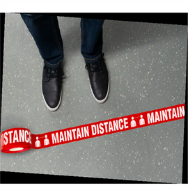 Maintain Distance Floor Tape (2.25 inch x 54 ft)