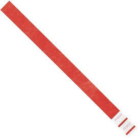 Tyvek® Wristbands Red 3/4 inch x 10 inch (500 Per/Pack)