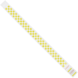 Tyvek® Wristbands Checkerboard Yellow 3/4 inch x 10 inch (500 Per/Pack)