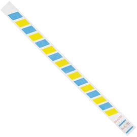 Tyvek® Wristbands Stripes Blue/Yellow 3/4 inch x 10 inch (500 Per/Pack)