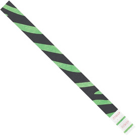 Tyvek® Wristbands Zebra Stripe Green 3/4 inch x 10 inch (500 Per/Pack)