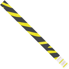 Tyvek® Wristbands Zebra Stripe Yellow 3/4 inch x 10 inch (500 Per/Pack)